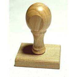 Montura de madera rectangular